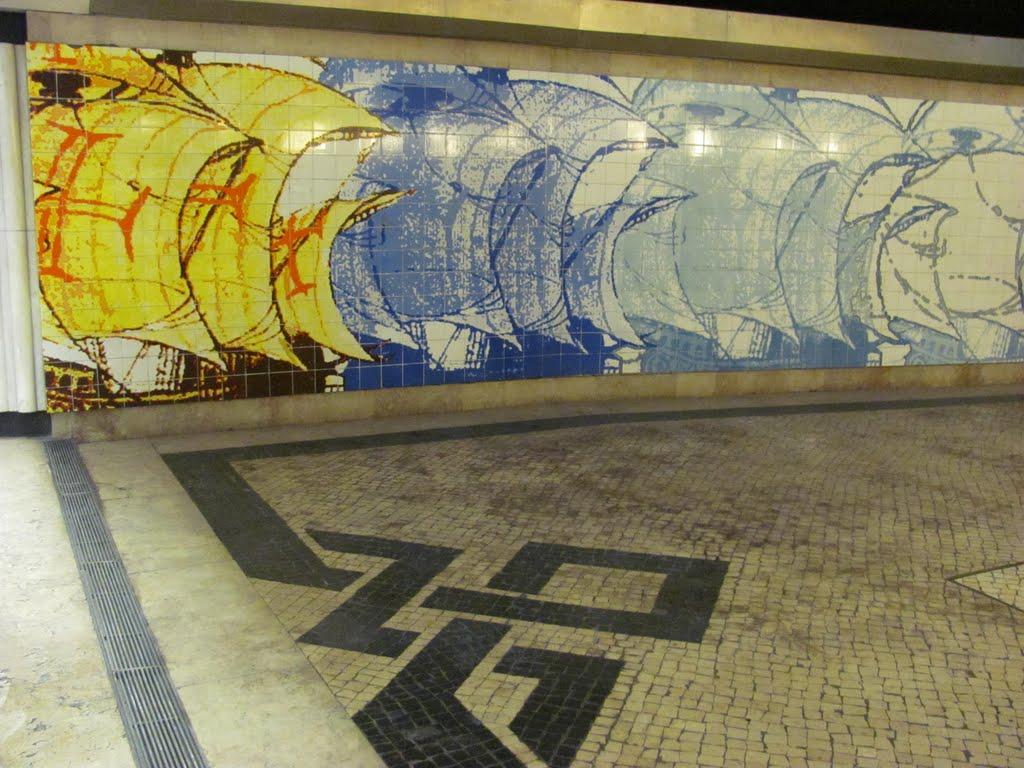 Estação do Metro Olivais,Metrou stație Olivais, Lisboa