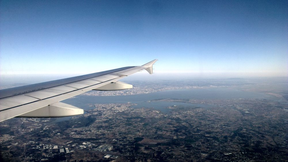 Lisabona văzută din avion