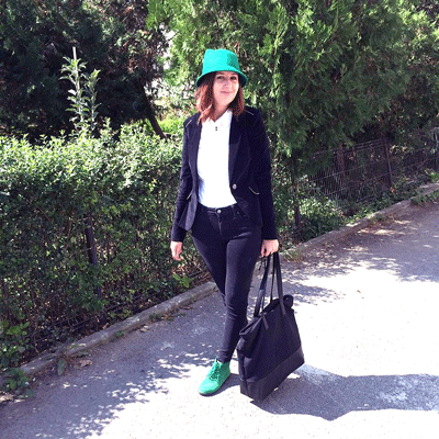 outfit casual de toamna cu palarie ear cat bowler hat si ghete