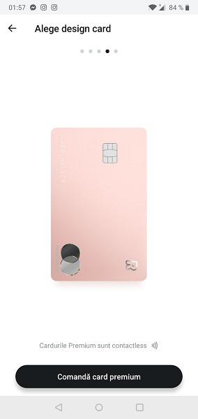 card premium Revolut rose-gold