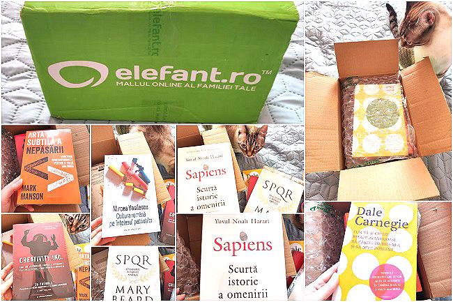 cum s-a livrat comanda de cărți online de pe Elefant