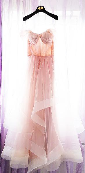 rochia mea de mireasă roz-pudră Oana Nuțu