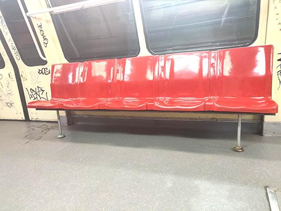 interior vagon tren metrou M4
