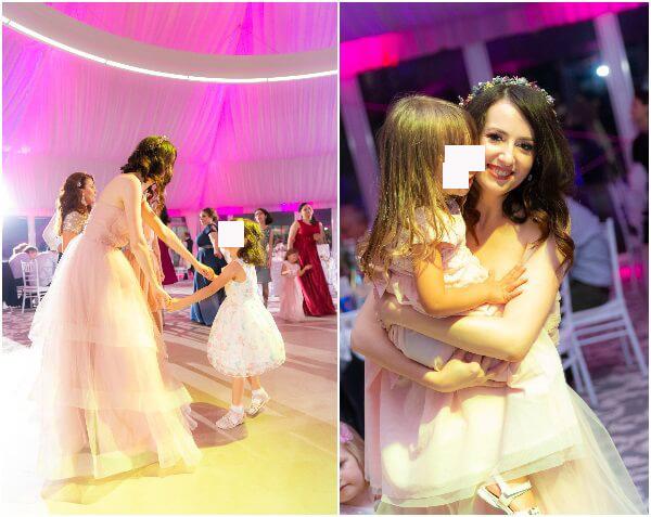 Am avut parte și de copii a propria nuntă.