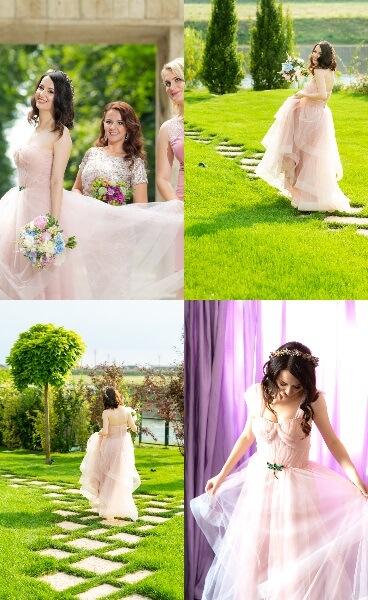 rochie mea de mireasă roz pudră Oana Nuțu