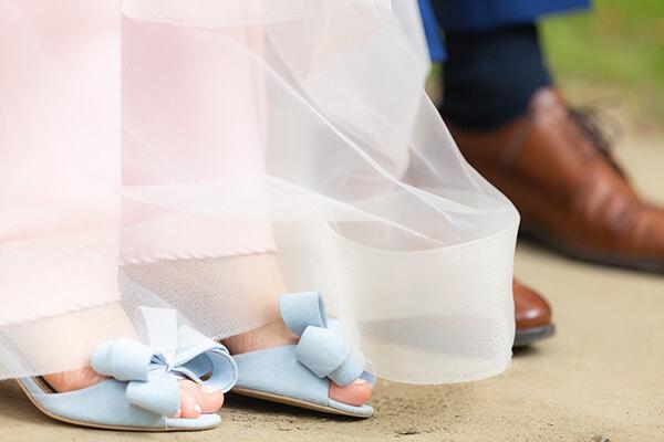 sandale bleu de mireasă Pantofică