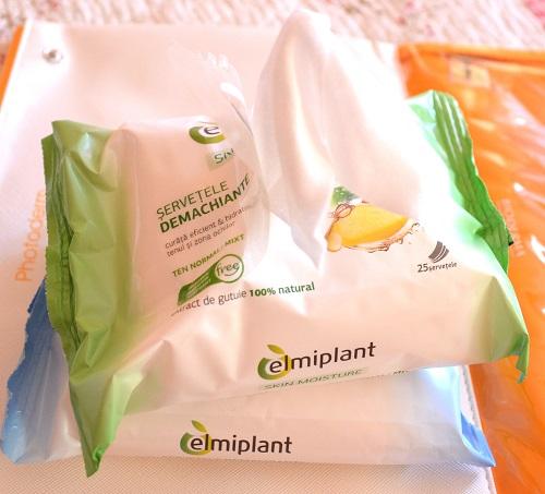șervețele demachiante Elmiplant pentru ten normal și mixt cu extract de gutuie