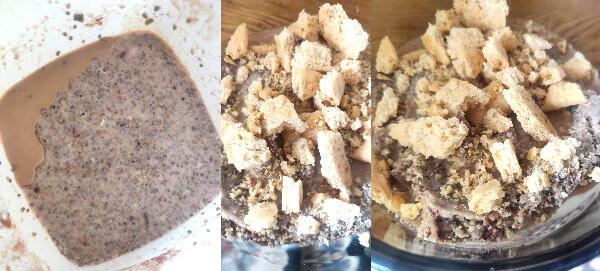 budincă de chia cu cafea și ulei de cocos
