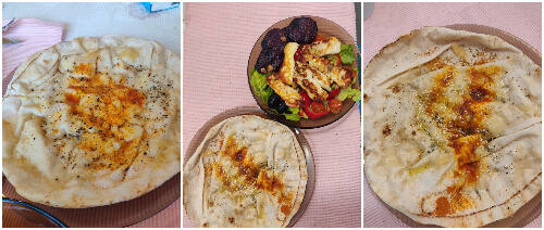 lipii libaneze în tigaie cu brânză semințe boia și condimente
