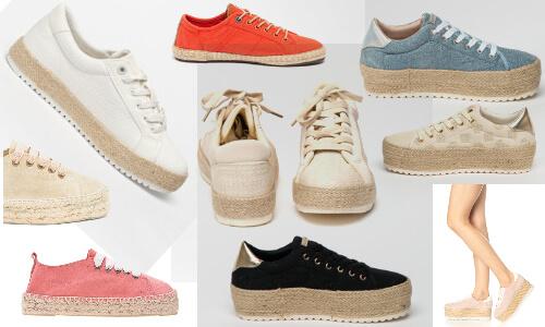 pantofi sport cu talpă împletită tip espadrile