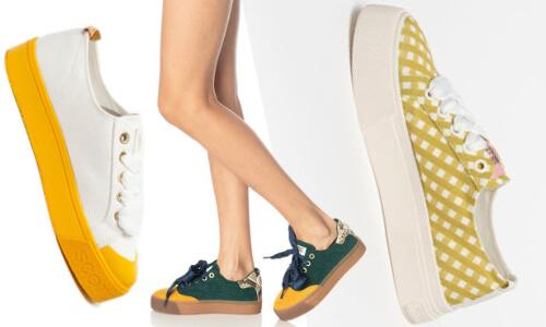 pantofi sport tip flatform stil retro Scotch & Soda