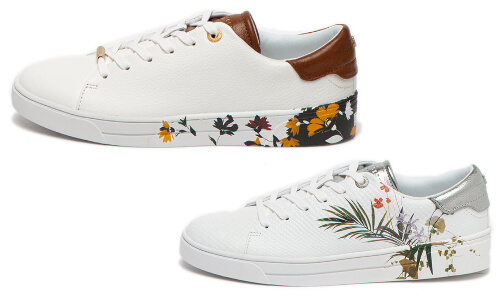 pantofi sport tip trainers cu imprimeu floral Ted Bakers