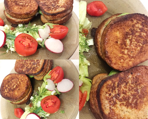 sandviciuri-frigănele în tigaie